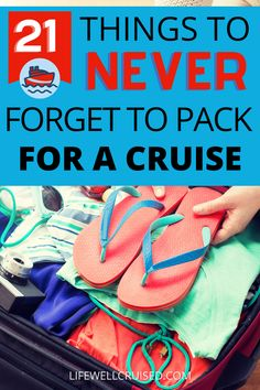 Knowing what to pack for a cruise is important. Just as important is making sure that you don't forget anything essentials at home. These are the items NOT to forget to pack for a cruise vacation, that people tend to regret! Packing List For Cruise, Cruise Tips, Cruise Port, Cruise Vacation, Wrinkle Release, Buy Luggage, Cruise Destinations, Cruise Outfits, Alaska Cruise