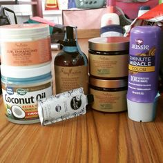 My haul 4c Hair, Hair Products, Vodka Bottle, Coconut Oil, Natural Hair Styles, Makeup, Make Up, Beauty Makeup, Bronzer Makeup