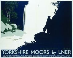 Historic railway poster.