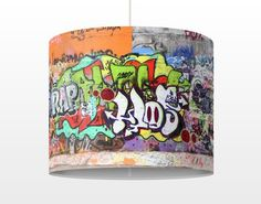 #Pendelleuchte - Graffiti - #Lampe - Lampenschirm Bunt #Graffiti #sprayen #streetlife #skater #yolo