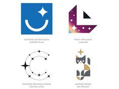 3つ星レストランや5つ星ホテルなど、世界中で利用されているワードから連想できる、星マークをあしらったロゴデザイン。ふたたびよく利用されるようになったトレンドのひとつで、きらびやかな印象も与えてます。