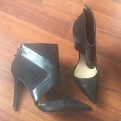 Zara heels Super cute. Worn once. Good condition. Size says 41 but fit like a 10 Zara Shoes Heels