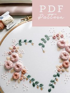 Hand Embroidery Patterns Flowers, Hand Embroidery Videos, Embroidery Stitches Tutorial, Embroidery Flowers Pattern, Simple Embroidery, Embroidery For Beginners, Embroidery Hoop Art, Hand Embroidery Designs, Bead Patterns