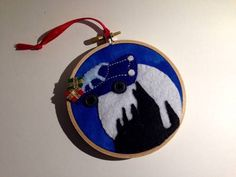 Flying Ford Anglia Ornament by luckdragon on Craftster