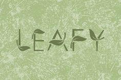 Nice LEAFY art font