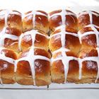 Hot Cross Buns.  We do them every year, and it is a beloved tradition, now.  Good Easter message.