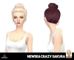 My Sims 4 Blog: Newsea Sakura Retexture in 42 Colors by MissParaply