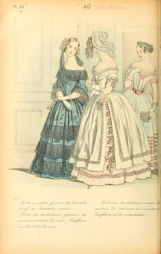 1842 - La mode pendant quarante ans de 1830 à 1870 by Louis Colas