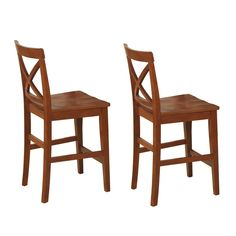 East West Furniture PBS X-Back Pub Stool (Set of 2) at ATG Stores