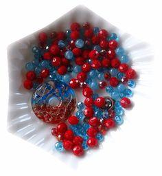Lamp Work Donut Pendant, Jade Beads, Glass Beads, Bead Combo, DIY Jewelry Kit #diyjeelrykit
