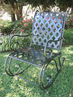 Patio Rocking Chairs  - Pin it :-) Follow us, CLICK IMAGE TWICE for Pricing and Info . SEE A LARGER SELECTION of patio rocking chairs at http://zpatiofurniture.com/category/patio-furniture-categories/patio-chair/patio-rocking-chairs/ -  home, patio, furniture, outdoor furniture, gift ideas , housewarming gift ideas - SLEIGH IRON PATIO or PORCH ROCKER in a DARK GREY FINISH – PATIO FURNITURE « zPatioFurniture.com