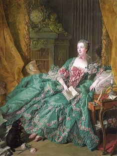 Portrait of Madame de Pompadour by French painter François Boucher, In the collection of Alte Pinakothek, Munich Madame Pompadour, 18th Century Dress, 18th Century Clothing, 16th Century, Jacqueline De Ribes, Holy Art, Rococo Dress, Rococo Fashion, 1500s Fashion