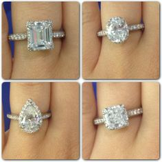 What shape do you love? All rings are from the Dantela Collection by Tacori, available at Michael C. Fina.