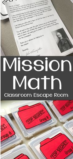 Fifth grade math - Mission Math Classroom Escape Room – Fifth grade math Escape Room, 3rd Grade Classroom, Math Classroom, Classroom Activities, Classroom Ideas, Math Teacher, Teaching Math, Teaching Time, Teaching Ideas