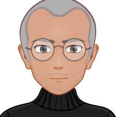 Steve Jobs as a Cartoon, make your own one on www.cartoonify.de