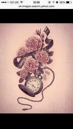 Love this! Vintage roses with pocket watch.... Cute!