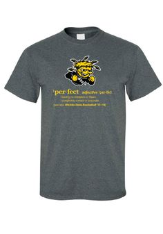 Wichita State Shockers T-Shirt - Charcoal WSU Definition Short Sleeve Tee http://www.rallyhouse.com/shop/wichita-state-shockers-8090194 $19.99