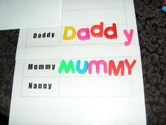 Splatters of Paint - Using magnetic letters to learn how to spell names