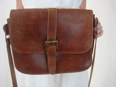 Vintage Brown Leather Purse  Messenger Bag  by VintageGriffin, $37.00 - this one sold - want to find one like it at this price