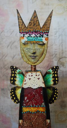 Altered Art Doll  My Muse by desertdreamstudios on Etsy