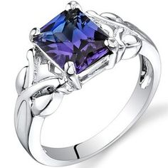 Oravo 2.75 carats Radiant Cut Alexandrite Ring in Sterling Silver