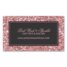 Pink Glitter Look Business Card. This is a fully customizable business card and available on several paper types for your needs. You can upload your own image or use the image as is. Just click this template to get started!