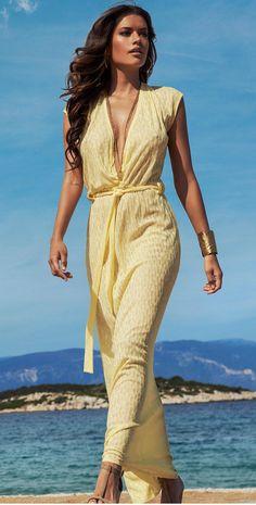 Stephanie Seymour Yellow Bikini Melissa Odabash on Pin...