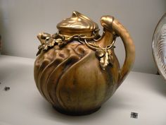 Adrien-Pierre Dalpayrat & Alfred Feau, Teapot, early 20th c.