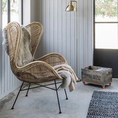 R U S T I C | LOVE this pic of the rattan egg chair from #hkliving, available to order NOW at www.designtwins.com