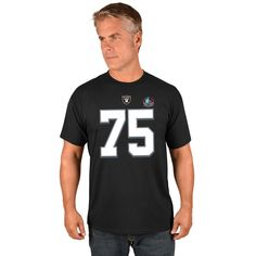 Howie Long Oakland Raiders Men s Eligible Receiver Tee - NWT - FREE SHIP!   Majestic 0ca503142