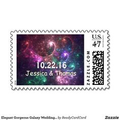 Chalkboard Wedding Save The Date Postage Stamps Save The Date Stamp, Galaxy Wedding, Wedding Postage Stamps, Chalkboard Wedding, Self Inking Stamps, Monogram Wedding, Wedding Save The Dates, Abstract Flowers, Invitation Cards