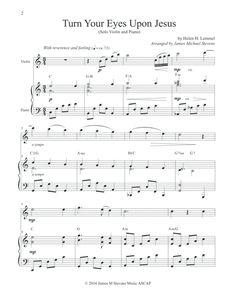 turn your eyes upon jesus pdf chords
