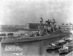 USS Arizona upon completion of its modernization, Norfolk Navy Yard, Portsmouth, Virginia, United States, 2 Mar 1931, photo 1 of 2
