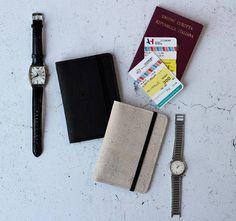 Porta passaporto in sughero Porta documenti sughero Porta