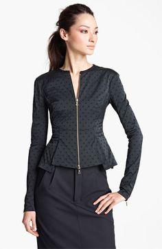 Nina Ricci Dot Jacquard Peplum Jacket available at #Nordstrom