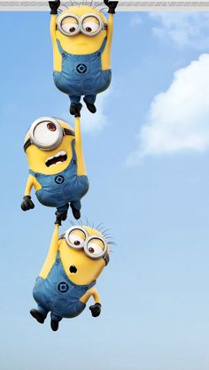 Customize Your Iphone  With This High Definition Minions Hanging Wallpaper From Hd Phone Wallpapers