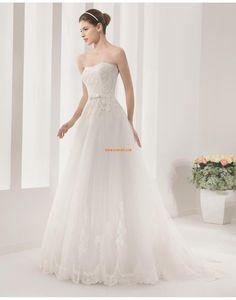 Salle intérieure Balayage / pinceau train Sans bretelles Robes de mariée 2015