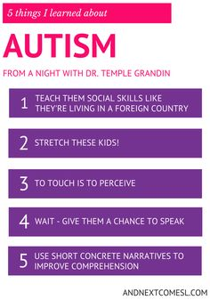 5 things I learned about autism & hyperlexia from a night with Dr. Temple Grandin from And Next Comes L