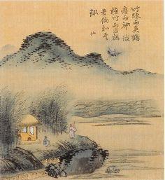 (Korea) 冲淡, 1749 사공도시품첩 by Gyeomjae Jeong Seon. color on silk.