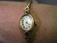 Vintage Ladies Bulova Watch, Speidel Band, 10kt. G.P. Bezel, needs battery, M8 #Bulova #DressFormal