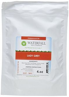 Waterfall Tea Company Organic Lady Grey Flavored Teas 4 Ounce ** Learn more by visiting the image link.-It is an affiliate link to Amazon. #LooseLeafTea