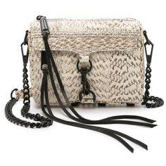 Rebecca Minkoff Snakeskin Micro MAC Bag (3,865 MXN) ❤ liked on Polyvore  featuring bags, handbags, shoulder bags, cream, genuine leather handbags,  ... 6fa258022c