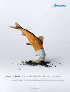 Little Black Book, Surfrider Foundation Aims to Eliminate Cigarette Littering with Print PSAs. gyro San Francisco helps to raise awareness with powerful campaign