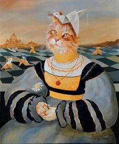Pinzellades al món: Gat-persona, personagat: il·lustracions de Sylvia Karle-Marquet / Gato-persona, Personagato / Cat-person, personcat: illustrations by Sylvia Karle-Marquet