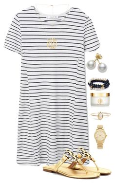"""✨✨✨"" by madelyn-abigail ❤ liked on Polyvore featuring moda, MANGO, Tory Burch, Mikimoto, Sequin y Michael Kors"