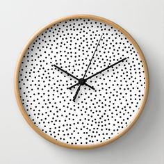 Dots.. Wall Clock | Priscilla Peress | Society6