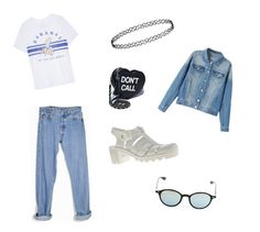 """- Blue :3"" by catta2002 ❤ liked on Polyvore featuring Levi's, Zoe Karssen, JuJu, Sugarbaby and Rayban"