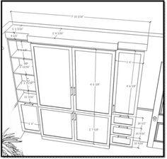 Plan d'un Lit Escamotable - Chambre d'Ado - Samantha à Canal Vie - Limuro