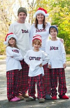 Cute Photography idea for a family Christmas card in your pj's -- THIS IS what I want to do this year!  @Bevvvvverly Foster, can/will you make the shirts :)
