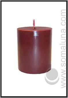 Black Cherry Pillar Candle 3.5 x 3